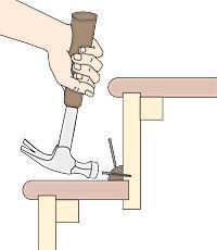 Best Quick Stair Fixes Squeaky Floors Stairs Repair Squeeky 640 x 480