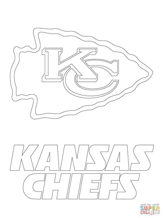 Kansas City Chiefs Logo Super Coloring Kansas City Chiefs Logo Kansas Chiefs Chiefs Logo