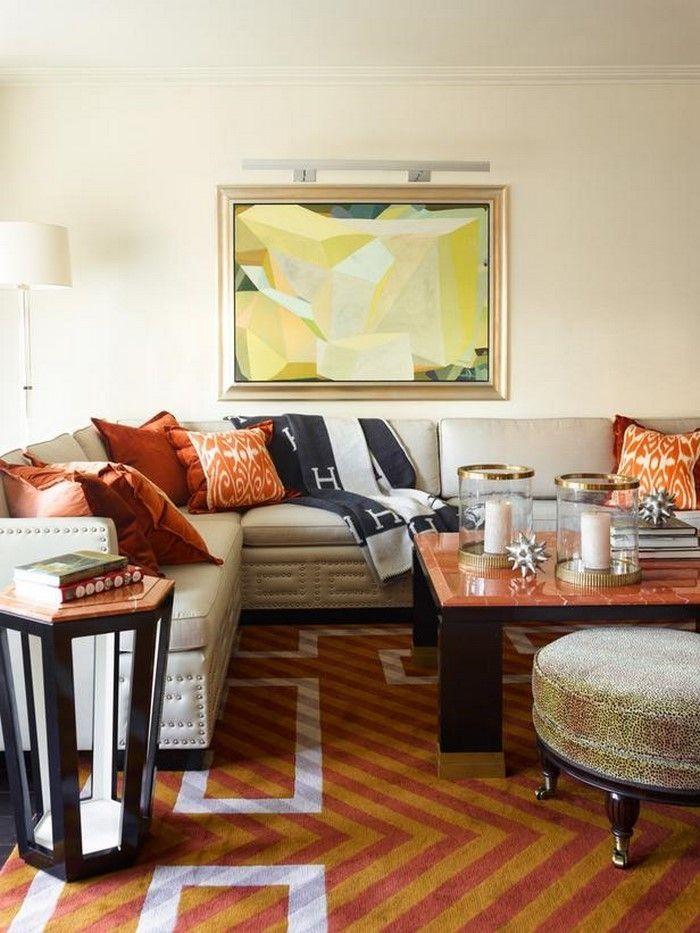 Farben für Wohnzimmer in Orange 80 Wohnideen! Wohnzimmer Ideen - wohnzimmer orange beige