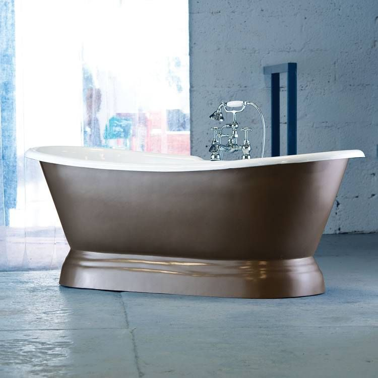 Arroll Versailles Cast Iron Bateau Bath With Plinth - Cast Iron ...