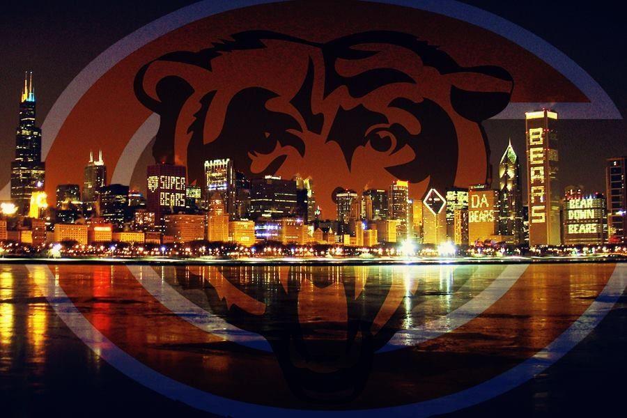 Chicago skyline...Da Bears  ba8447626bd