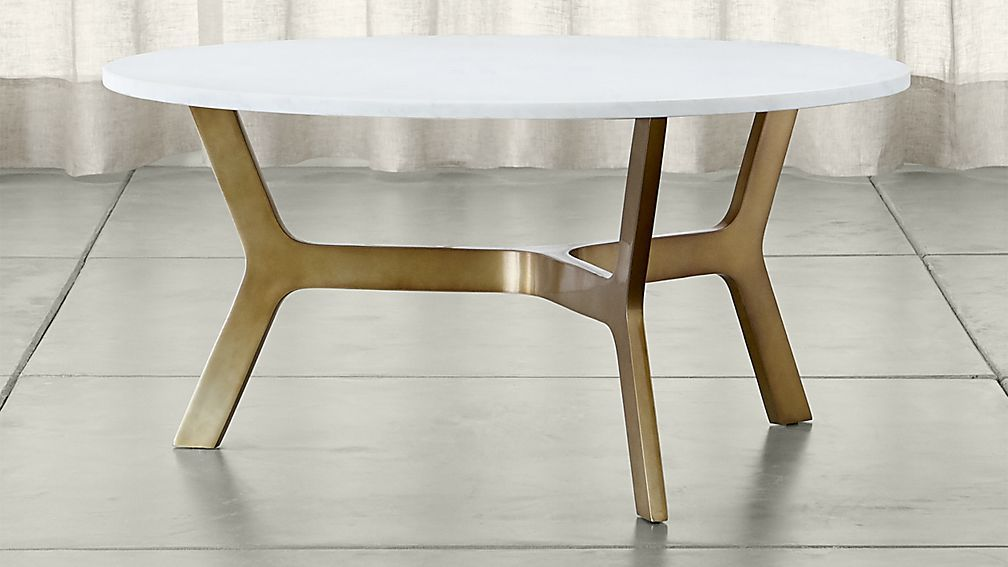 Great Elke Round Marble Coffee Table   Crate And Barrel