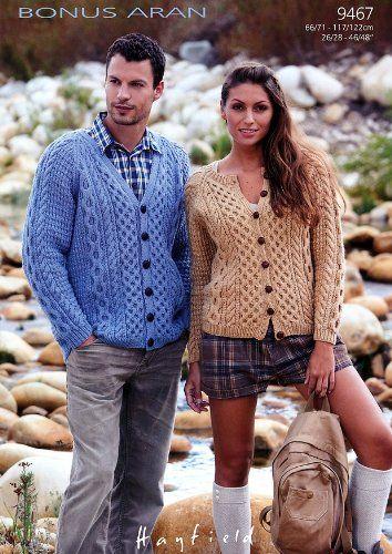 Sirdar Bonus Aran Ladies Mens Knitting Pattern 9467 Amazon