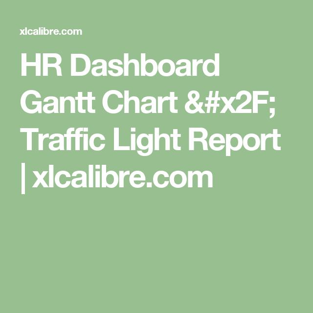 Hr Dashboard Gantt Chart  Traffic Light Report  XlcalibreCom