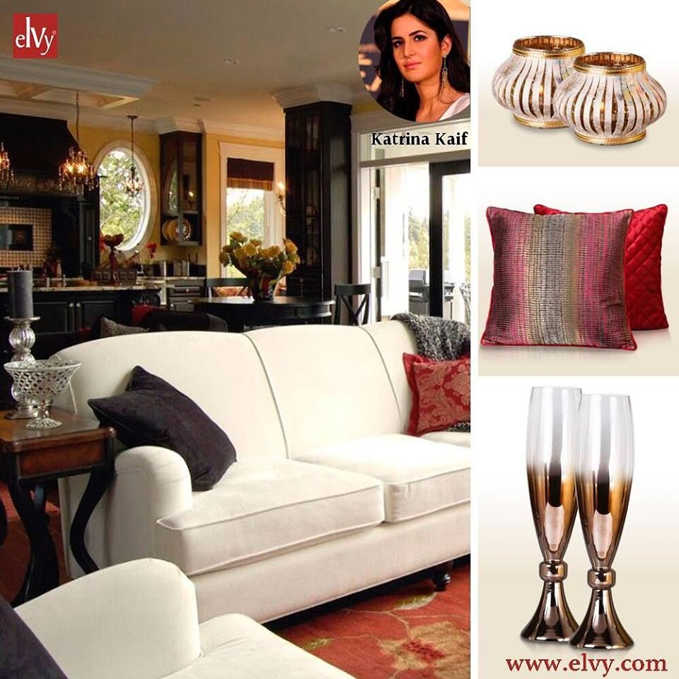 Our Gorgeous Bollywood Actress Ms Katrina Kaif Owns A Very Beautiful Apartment In Mumbai The House Is Simple Yet Sign Decor Home Decor Beautiful Apartments
