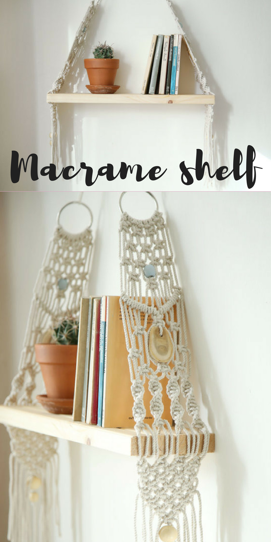 Macrame wall hanging Shelf can hang and decor your walls ...