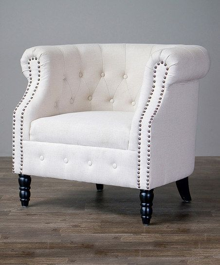 Baxton Studio Beige Chesterfield Chair | zulily