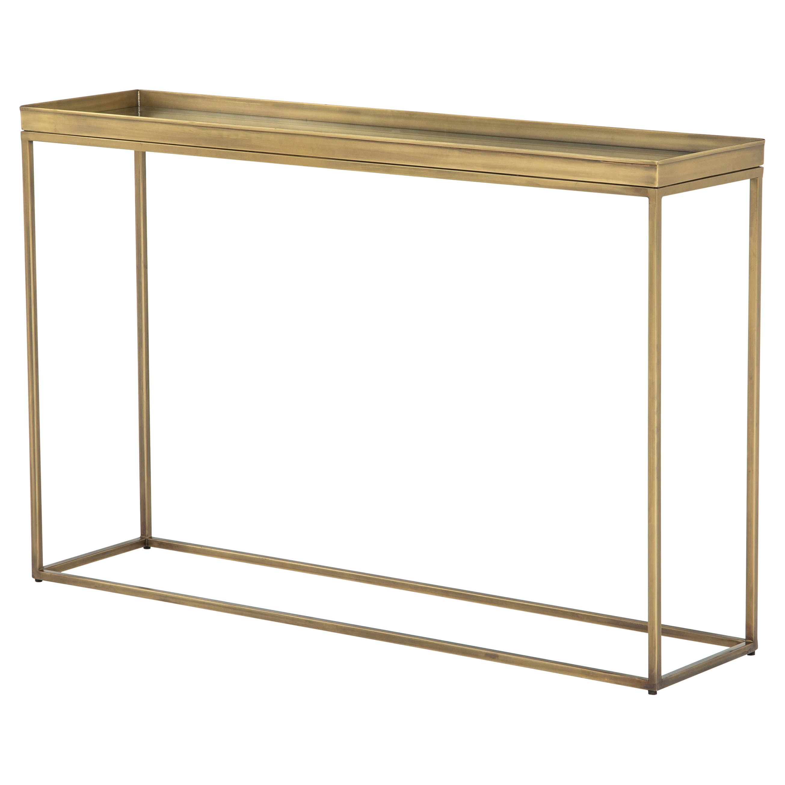 Kasey Holywood Regency Tempered Glass Top Antique Brass Console Table In 2021 Narrow Console Table Brass Console Table Console Table