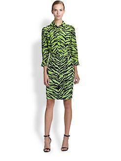 Moschino Cheap And Chic - Zebra-Print Shirtdress
