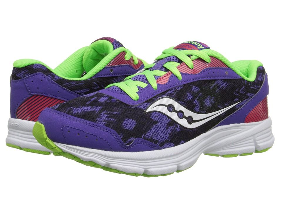 Womens Shoes Saucony Sapphire Purple/Slime/Red