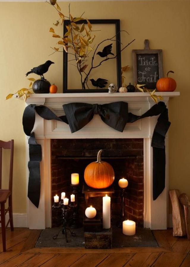 Halloween Mantels from Spooky to Sweet Boo! Halloween Decor and