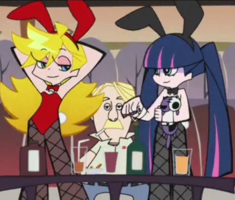 Panty And Stocking Reference Panty And Stocking Anime Pink Wallpaper Anime Anime Wolf Girl Panty and stocking iphone wallpaper