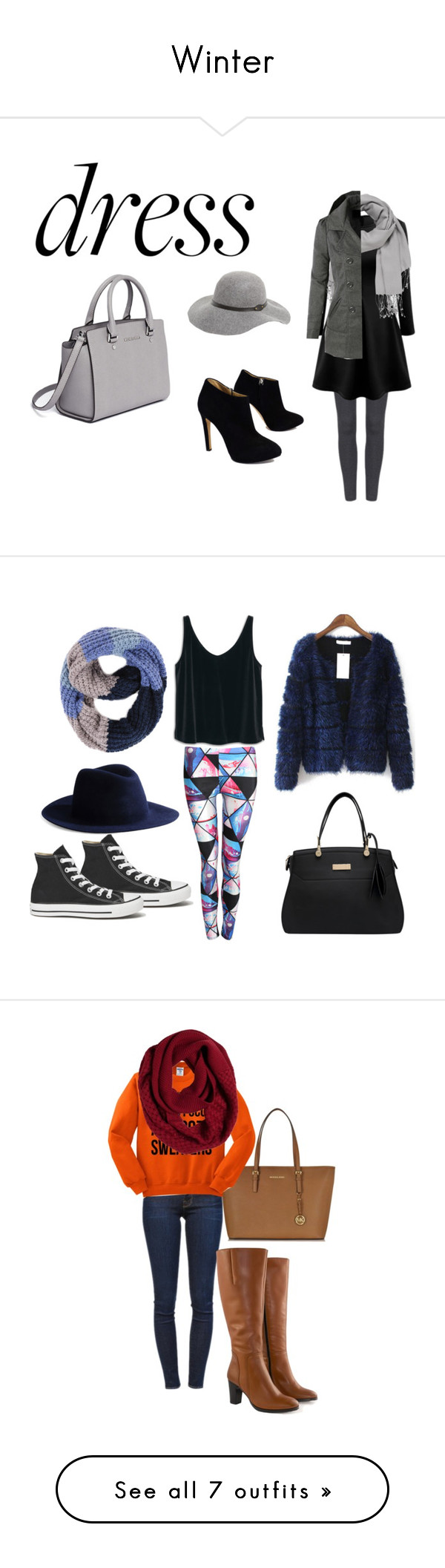 """""""Winter"""" by samantha-3112 ❤ liked on Polyvore featuring maurices, LE3NO, Giuseppe Zanotti, David & Young, MICHAEL Michael Kors, Winter, dress, cozy, cold and Pilot"""