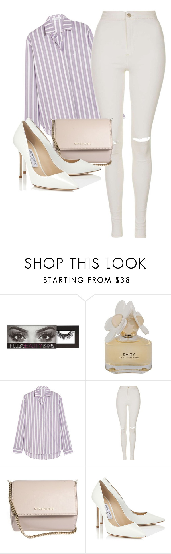 """three hundred and thirty one"" by amywbu ❤ liked on Polyvore featuring Huda Beauty, Marc by Marc Jacobs, J.W. Anderson, Topshop, Givenchy and Jimmy Choo"
