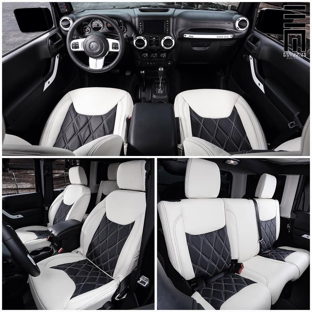 Jeep Black And White Interior