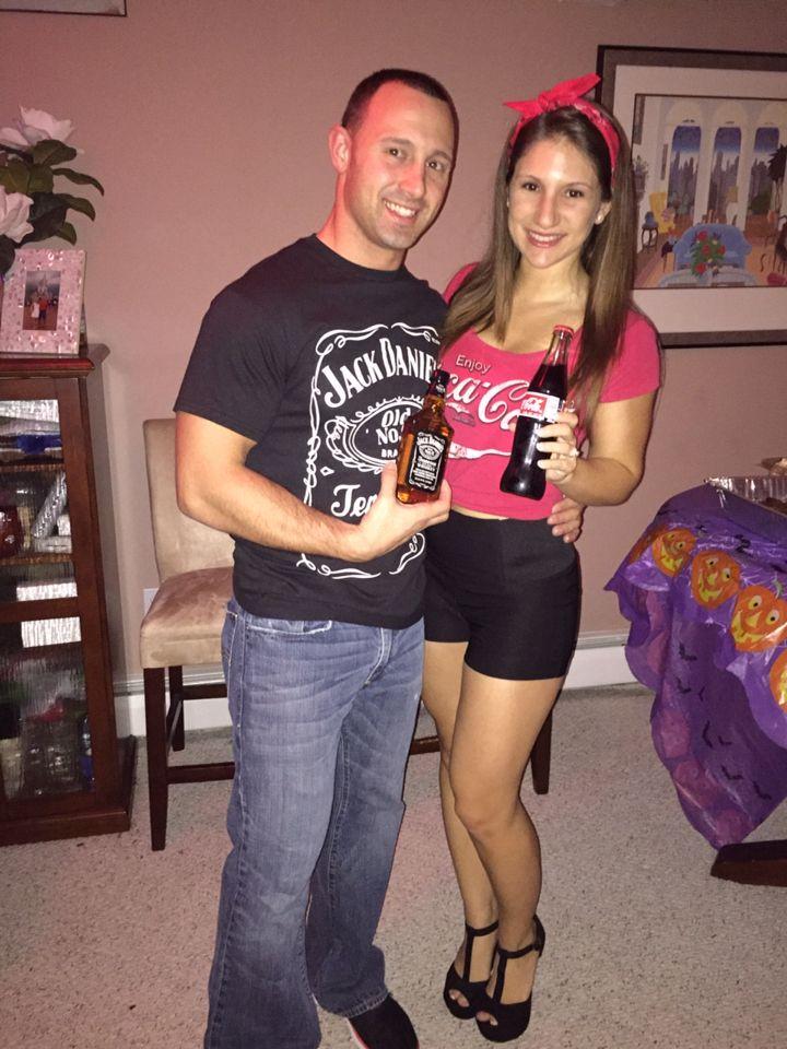 Jack and Coke Couples Costumes Halloween !!! Pinterest Coke - halloween couples costumes ideas