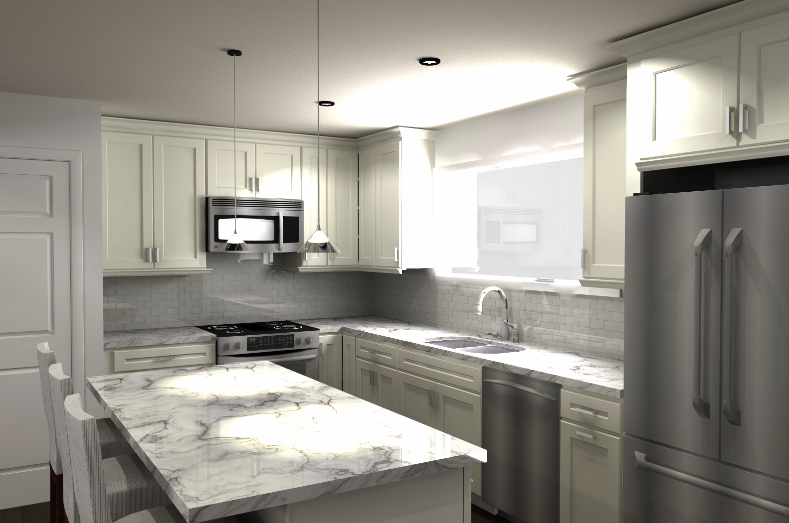 Chicago #kitchen #remodeling rendering using 20/20 software ...