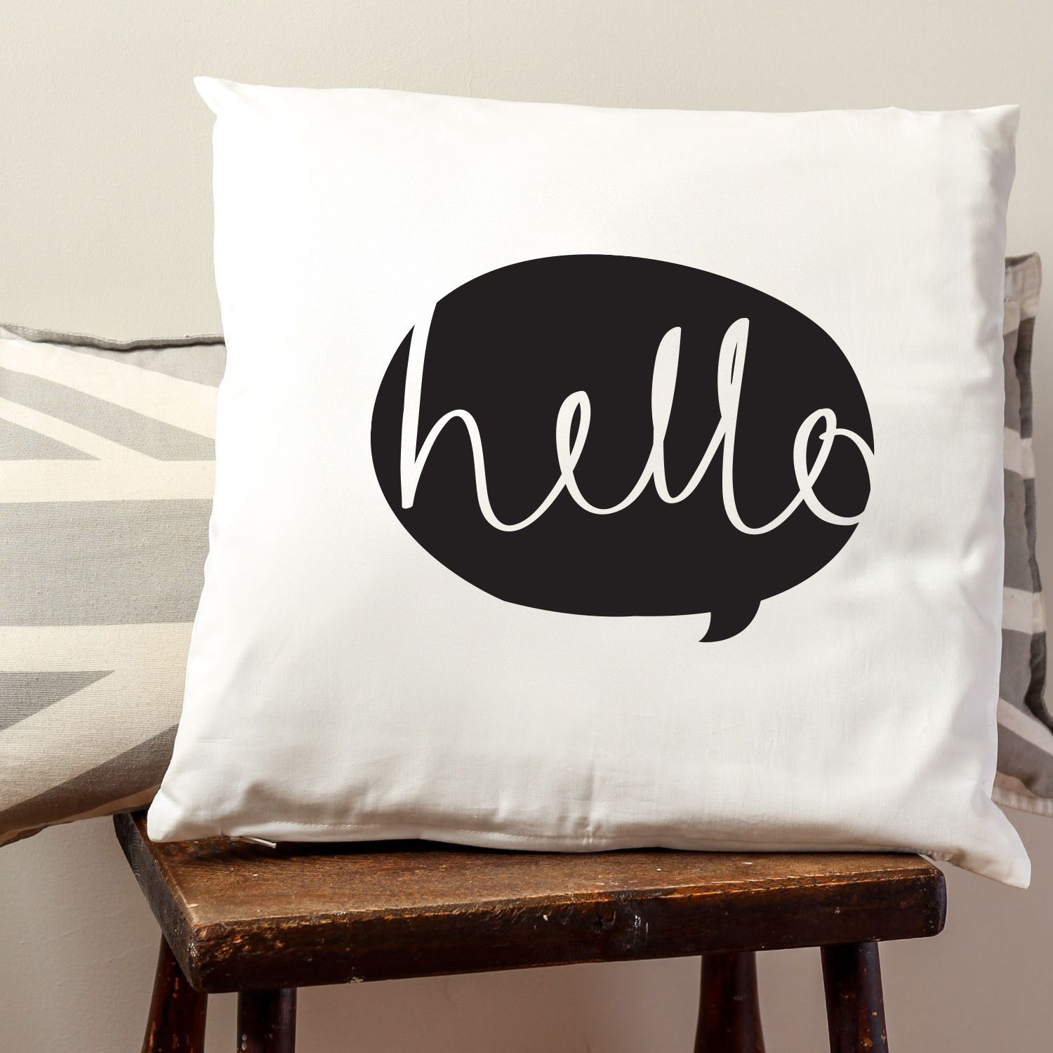 Letter cushion HELLO CUSHION COVER Old