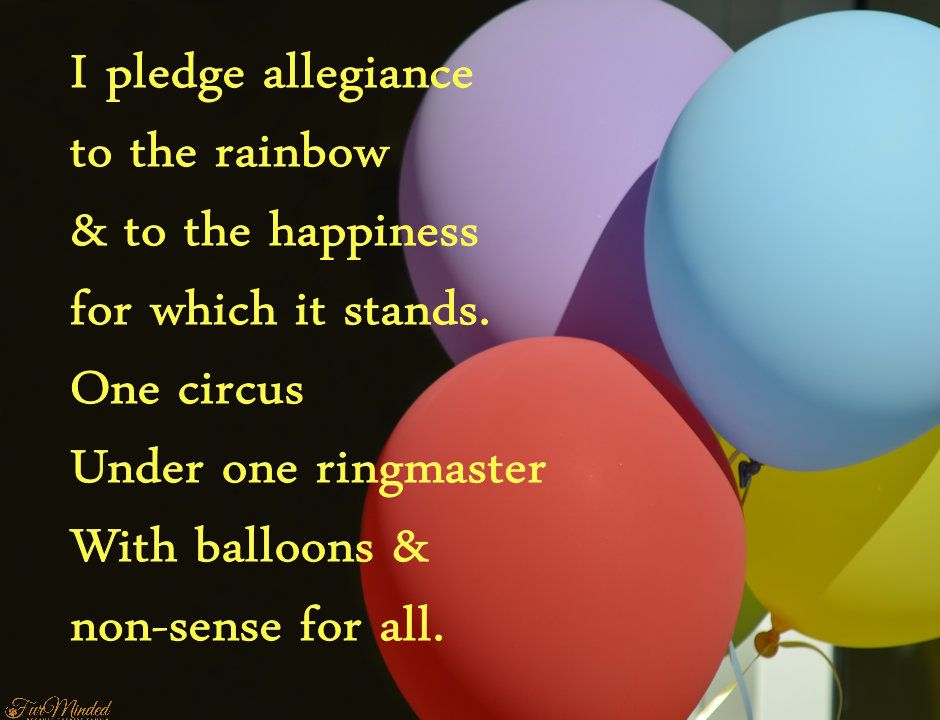 Poem -  I pledge allegiance to the rainbow    Created by FurMinded
