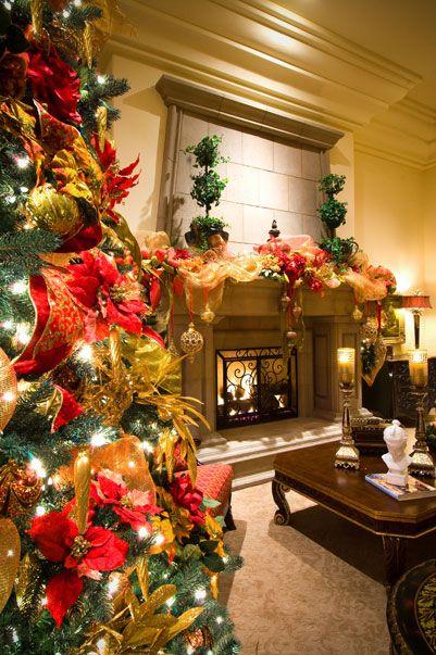 Red  Gold Opulent Italian Christmas Decor Italian Christmas