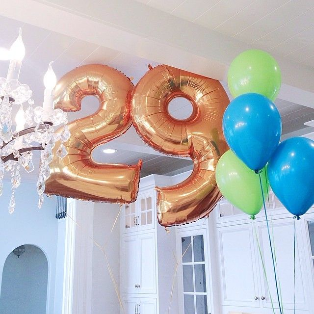 """Number 28 Gold 34/"""" Balloon Birthday Party Decorations 28th Birthday"""