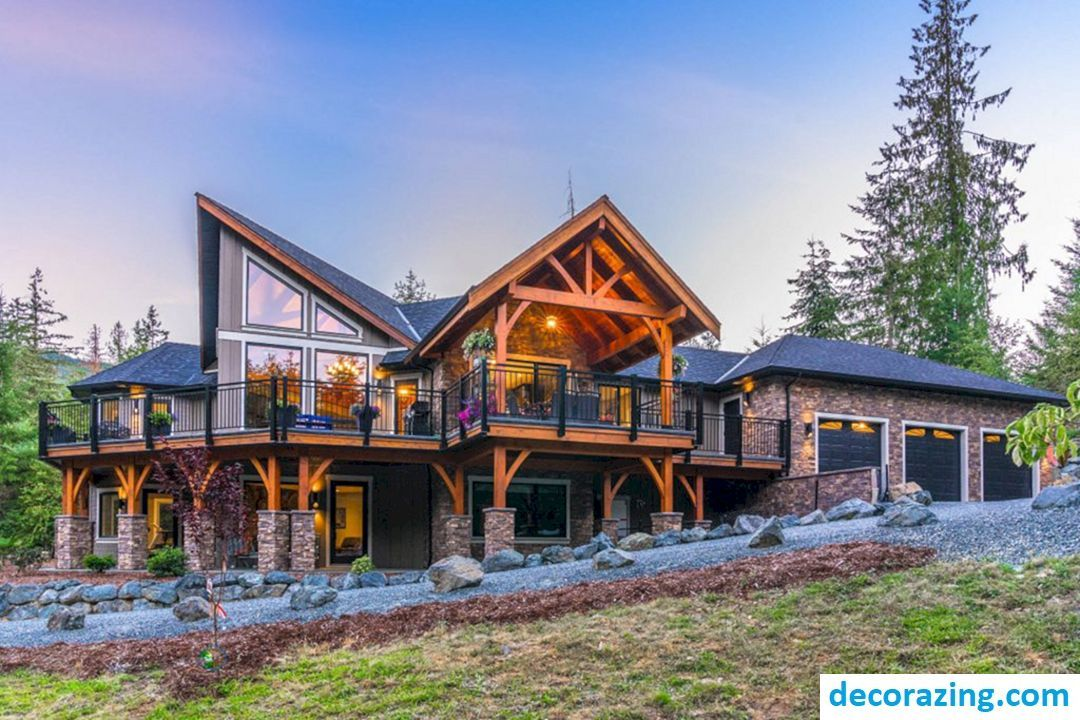 Awesome rustic home exterior design for your inspiration https decorazing also rh pinterest