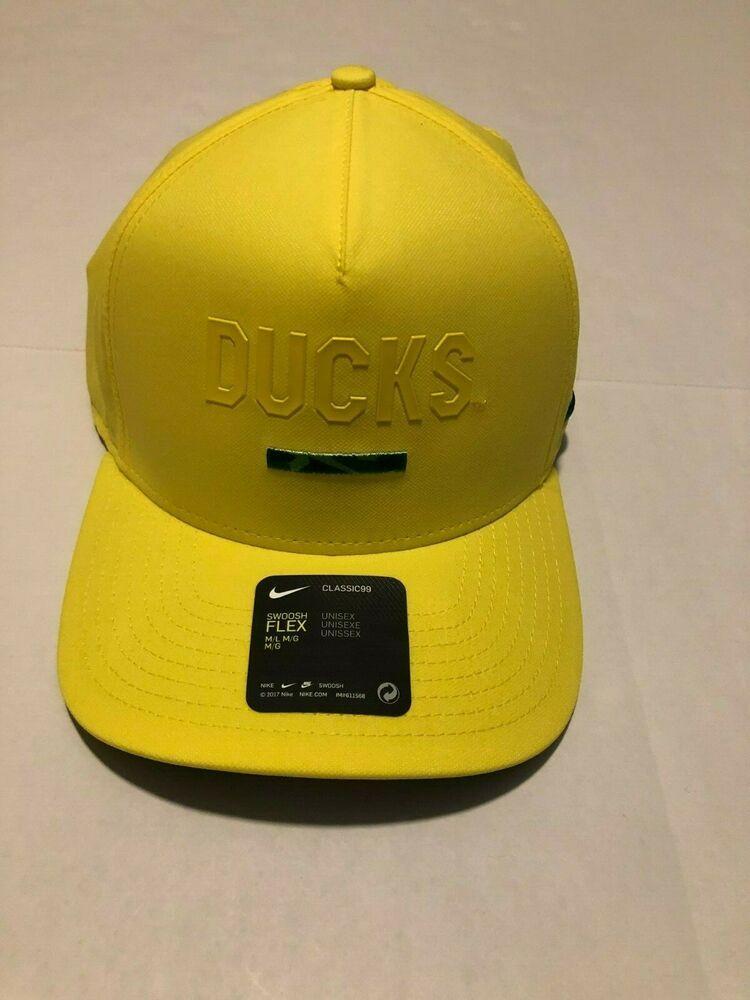 pretty nice f069a 013f4 OREGON DUCKS NCAA Nike Classic99 Swoosh Flex Stretch Fit Cap Hat (M L)