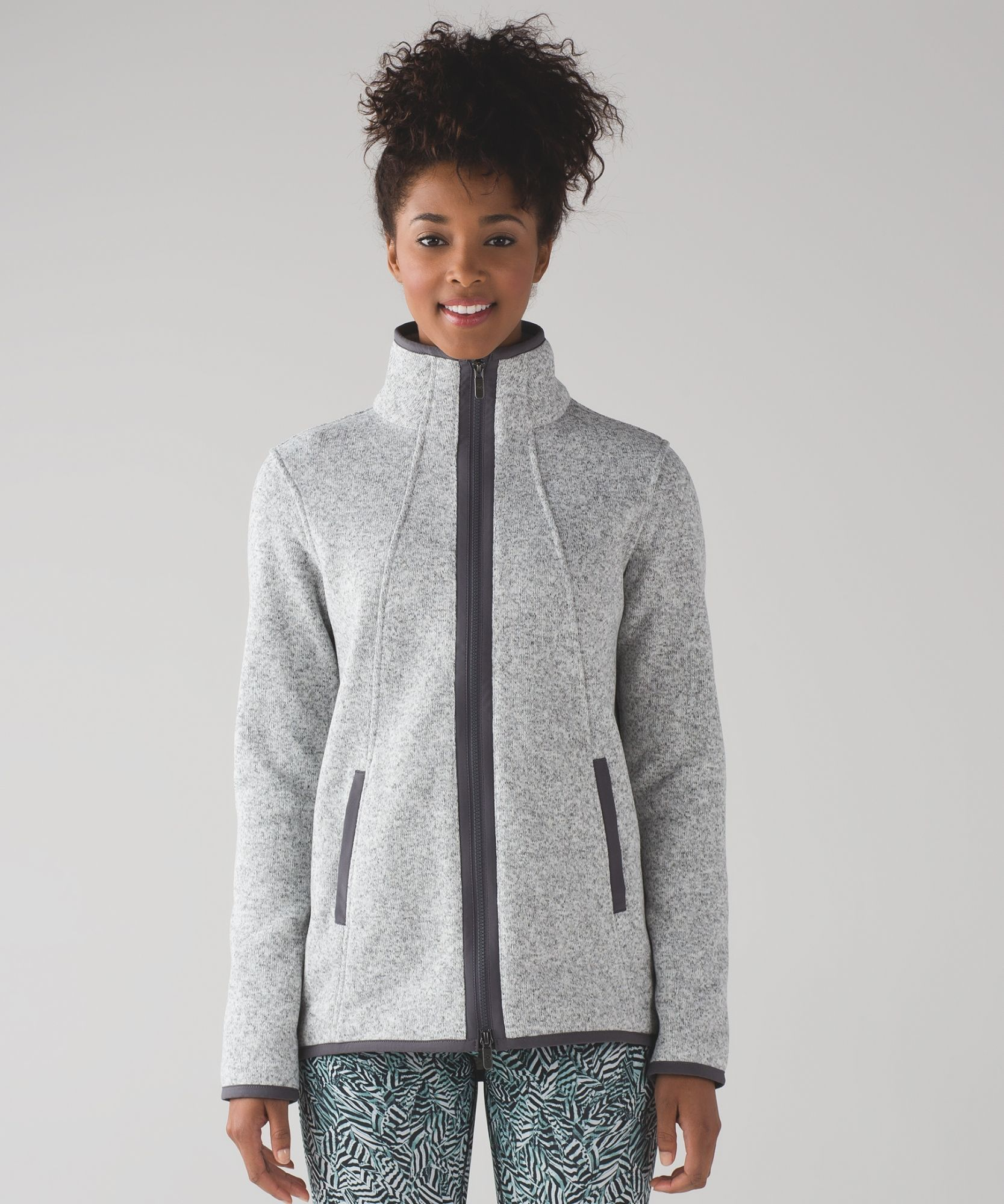 IT'S FLEECING COLD JACKET HEATHERED WHITE/DARK CARBON NWT