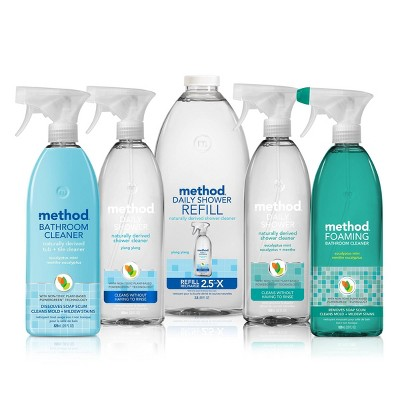 Method Cleaning Products Foaming Bathroom Cleaner Eucalyptus Mint