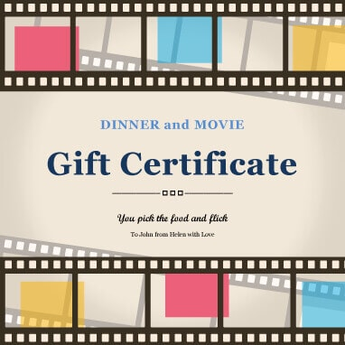 Movie Gift Certificate Template (6) - TEMPLATES EXAMPLE | TEMPLATES EXAMPLE