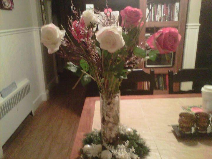 Rose centerpiece:)