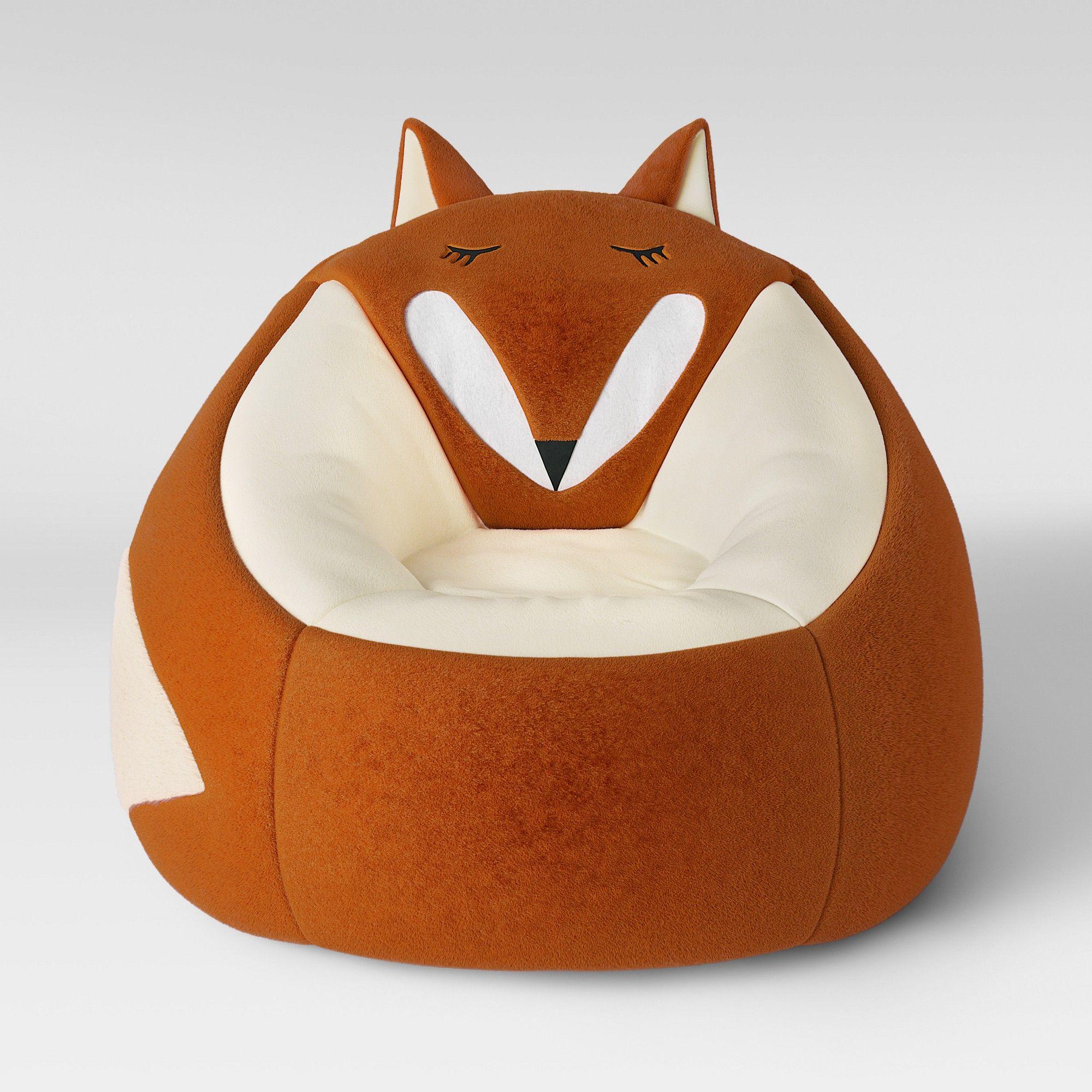 Super Character Bean Bag Chair Orange Fox Pillowfort In 2019 Machost Co Dining Chair Design Ideas Machostcouk