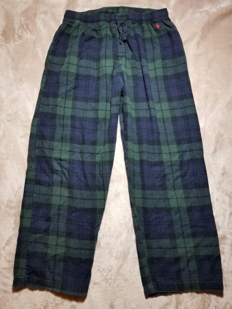 Croft /& Barrow Blue Black Plaid Men/'s S M L XL Fleece Lounge PJ Pants New