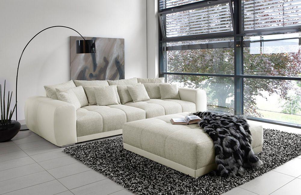 Samy Von Job Sofa Beige Weiss In 2019 Living Room Big Sofas