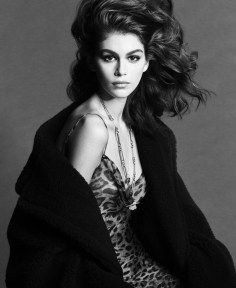 Photo of Kaia Gerber & Edie Campbell Model Precious Gems for Vogue Paris