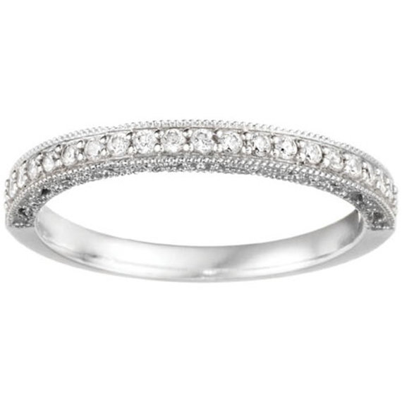 Atr Deco Vintage Milgrain With Filigree 30ct Cz