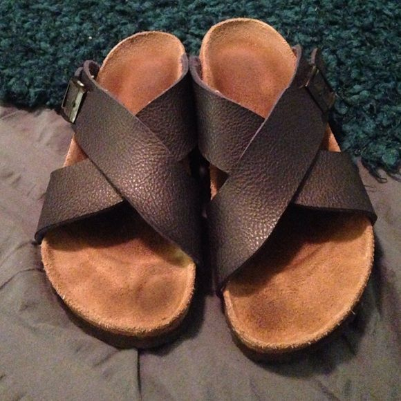 Navi blue Birks Good like new condition. Regular width. Price is firm and I do not do trades. Birkenstock Shoes Sandals