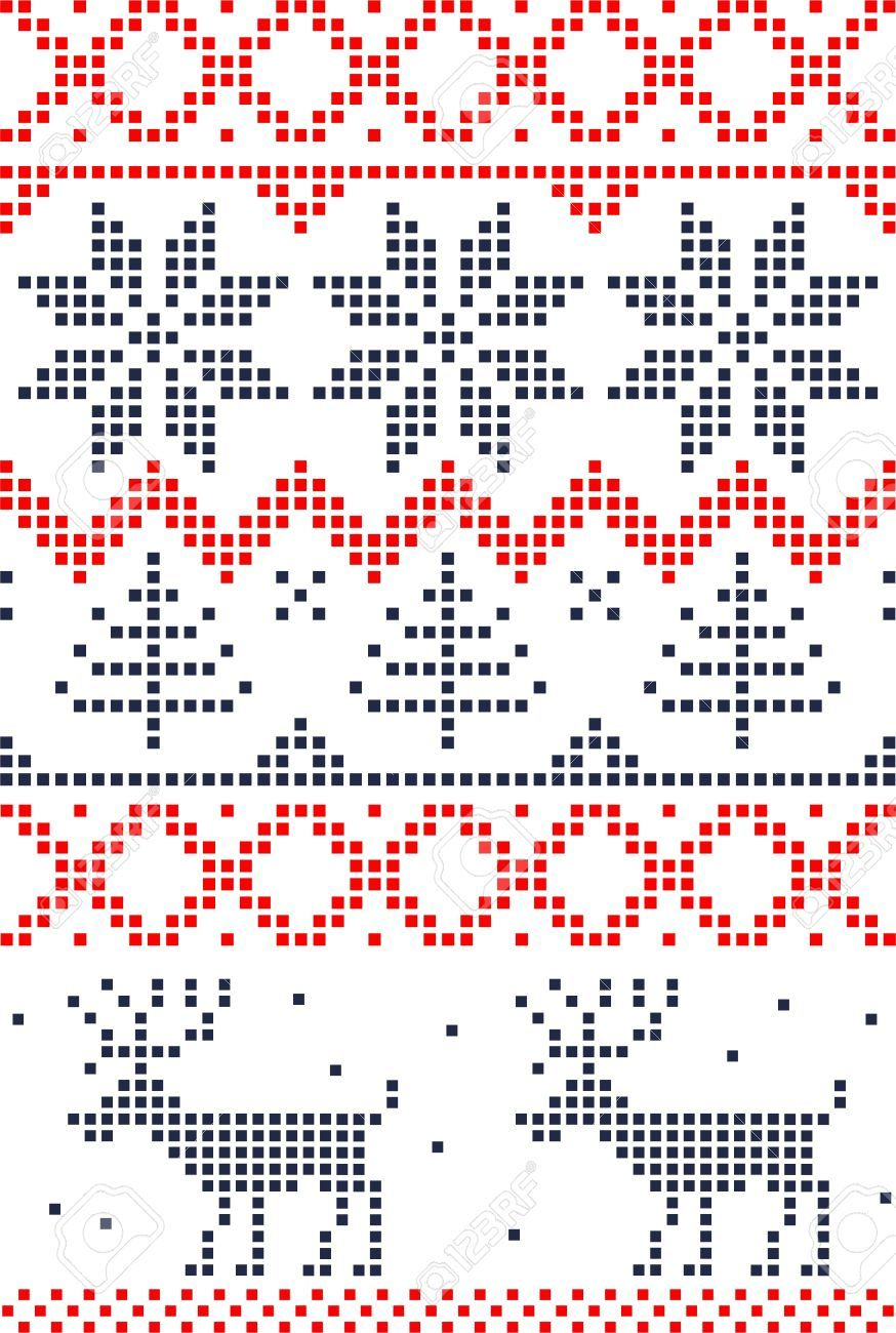 Photo of Scandinavian seamless pattern