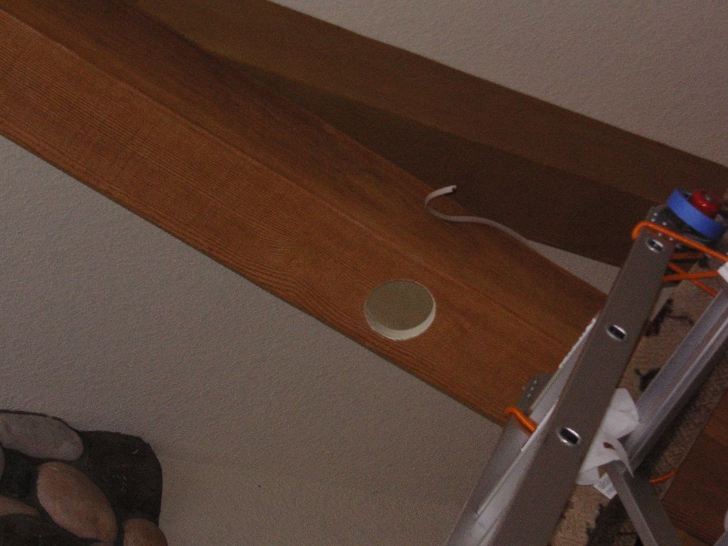 Recessed lighting in the faux beam | Man Room | Pinterest | Faux ...