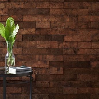Self Adhesive Natural Cork Bark Tiles That Bring The Organic Feel And Sustainable Nature Of Cork Into One S Home And Wo Cork Wall Cork Wall Tiles Wall Covering