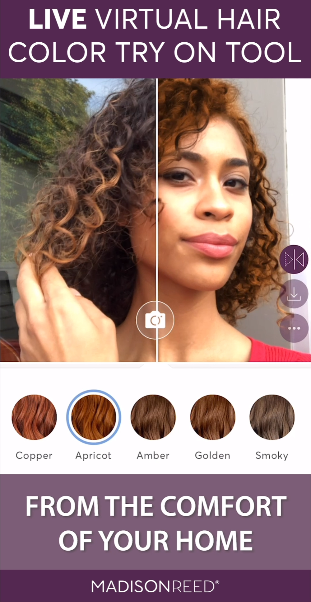 Live Virtual Hair Color Try On Tool Video Virtual Hair Color Hair Color Changer Hair Colour App