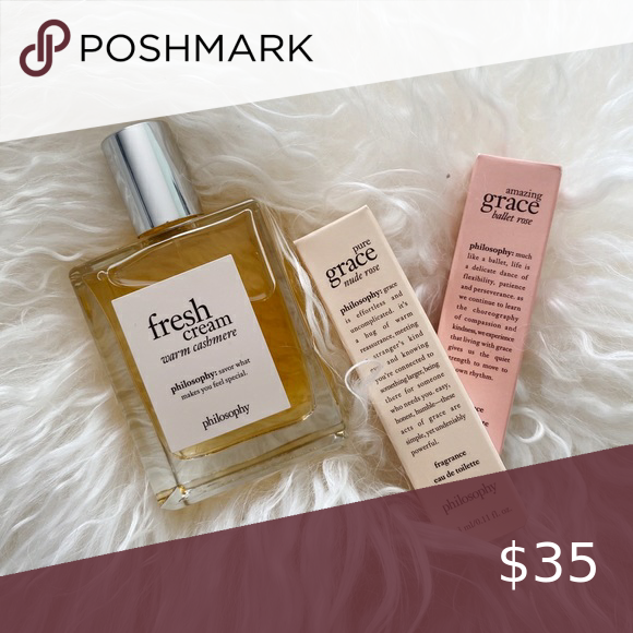 Nwt Philosophy Fresh Cream And Warm Cashmere Philosophy Fresh Cream Fresh Cream Fragrance Samples