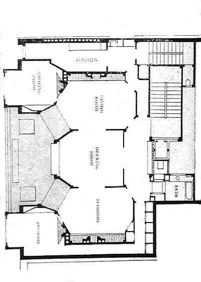 Apartment Building Drawing apartment building, paris, 1903,auguste perret | architectural