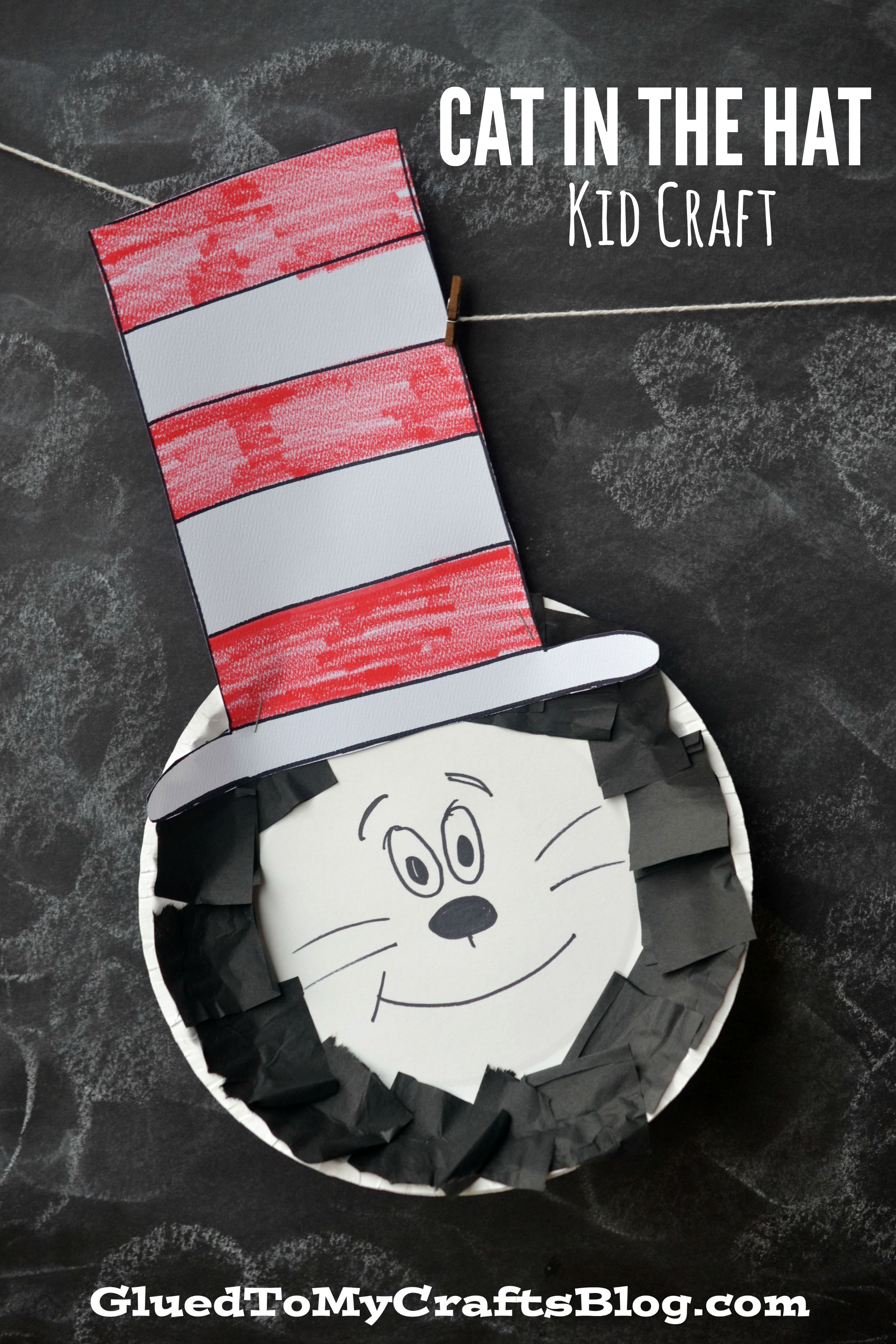 Paper Plate Dr Seuss Cat In The Hat Kid Craft & Paper Plate Dr Seuss Cat In The Hat Kid Craft   Cat Craft and School