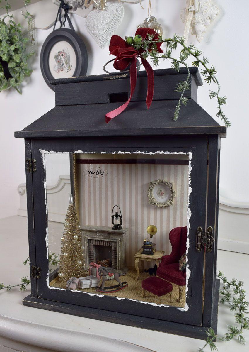 miniature christmas room #miniaturerooms