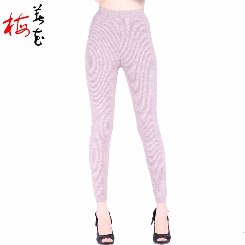 Térmica Cashmere Skinny Leggings Underwear mulheres camadas duplas de lã calças quentes de Slim mulher inverno terno Abbigliamento Donna em Ceroulas de Roupas e Acessórios no AliExpress.com | Alibaba Group
