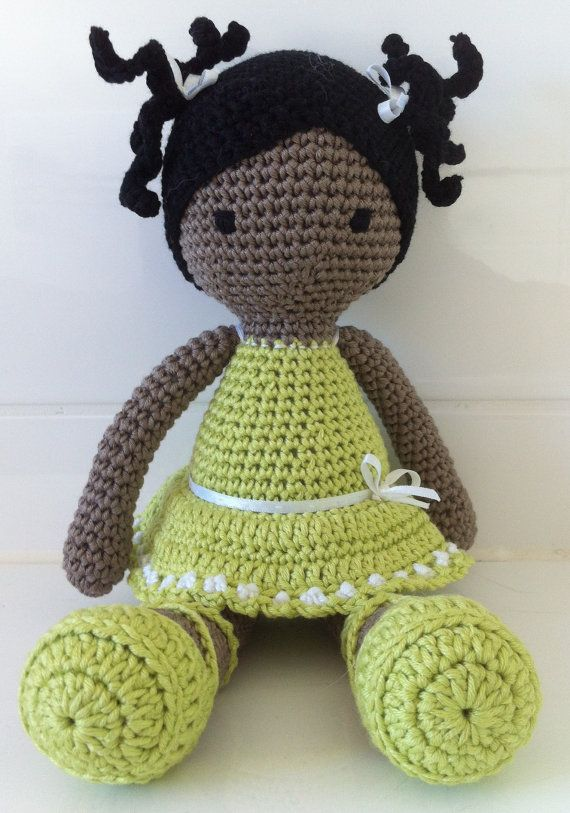 Sweet Little Crochet Doll by RicePuddingBaby on Etsy | amigurumi ...