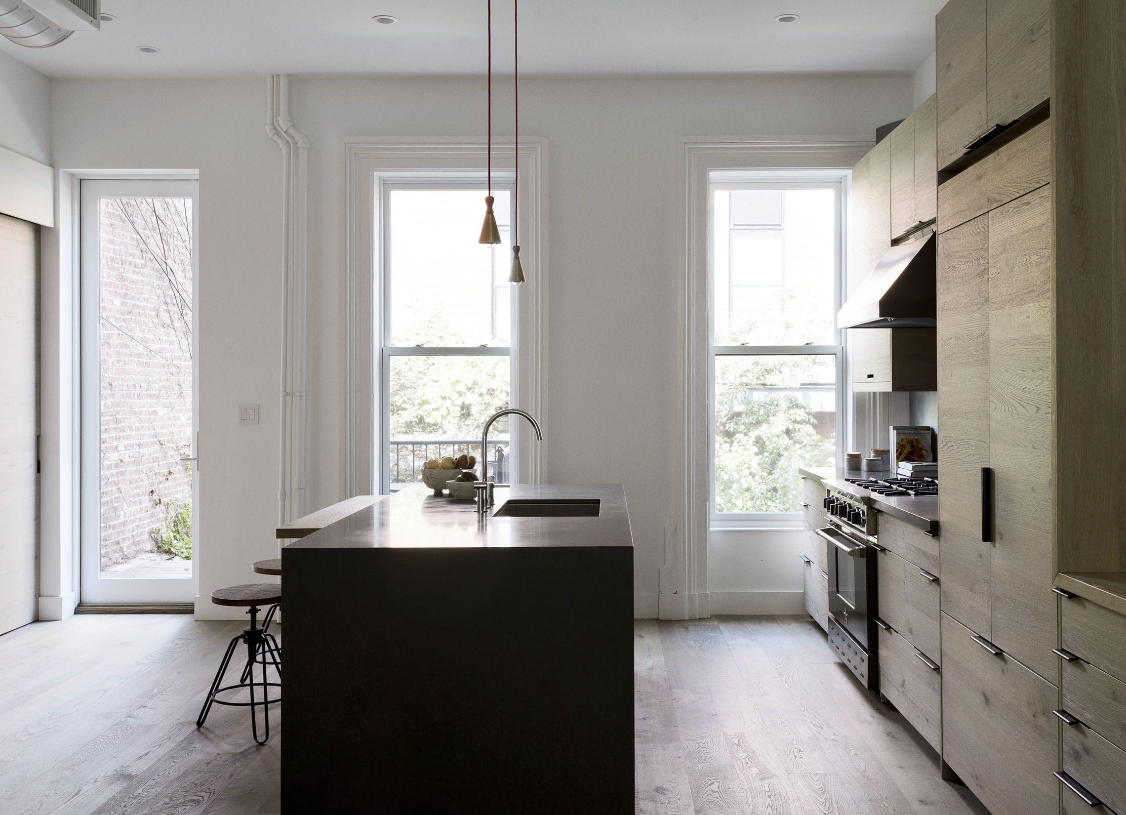 Brooklyn kitchen design with custom wood cabinets