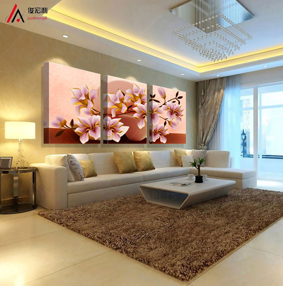 living room art prints%0A      Promotion Painting   Piece Canvas Wall Art  d Modular Paintings On The  Decoration In Roomon