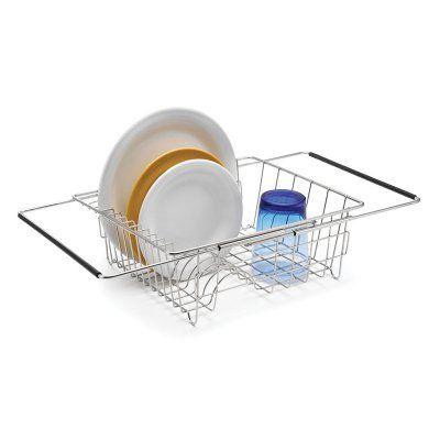 Polder Stainless Steel Sink Dish Rack 6216 75rm Dish Racks